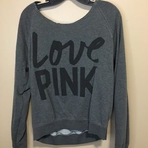 Off the shoulder Pink Victoria Secret Sweatshirt
